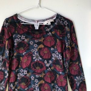 LOFT | light sweater w/ moody florals - size XS